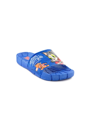 Warner Bros Kids Unisex TJ Big Face Blue Slippers