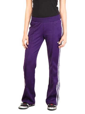 Adidas Originals Women Flock Purple Track Pants