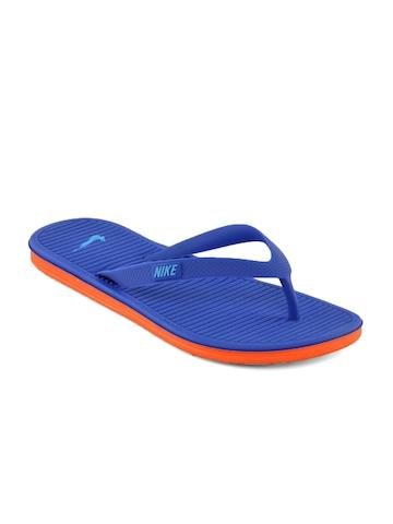 Nike Unisex Solarsoft Thong Blue Flip Flops
