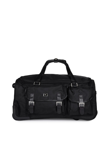 Peter England Unisex Black Duffle Bag
