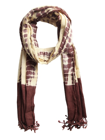 Femella Women Yellow & Brown Scarf