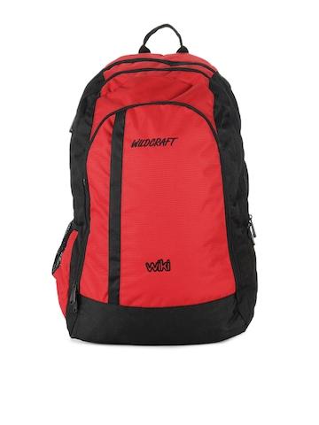 Wildcraft Unisex Red & Black Backpack