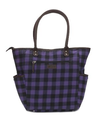 Paridhan Women Black Checked Handbag