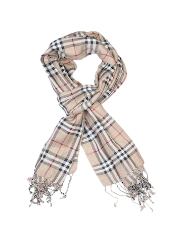 Lino Perros Men Brown Check Scarf