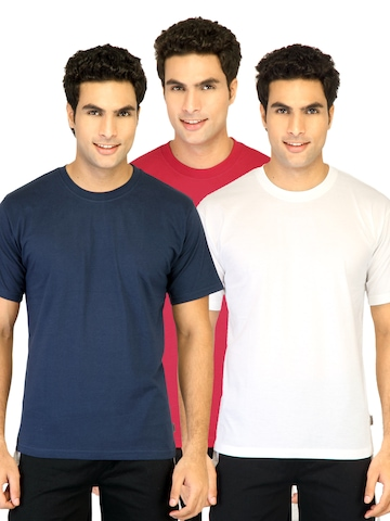 Hanes Men Half Sleeve Crew Pack of 3 Red Innerwear T-shirts