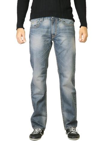 Deni Yo Men Blue Washed Slim Fit Jeans