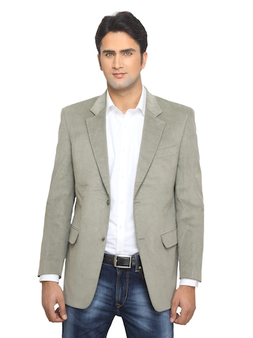 Reid & Taylor Men Semi Formal Olive Blazer