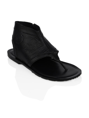U.S. Polo Assn. Men Black Sandals