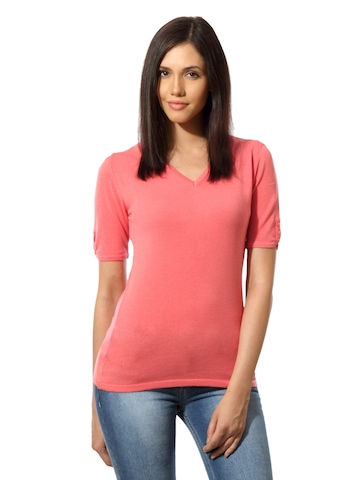 United Colors of Benetton Women Peach Top