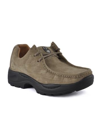 Woodland Men Khaki Shoes