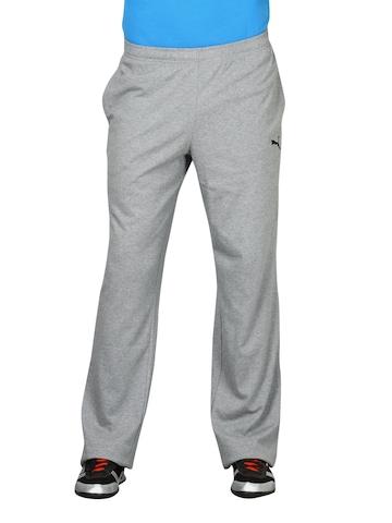 Puma Men Jersey Long Grey Track Pant