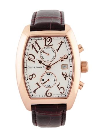 Giordano Men White Dial Watch