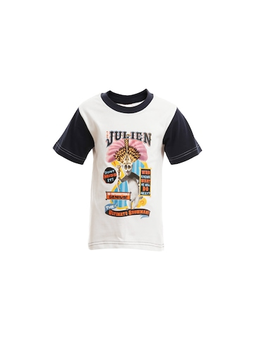 Madagascar3 Boys White Printed T-Shirt