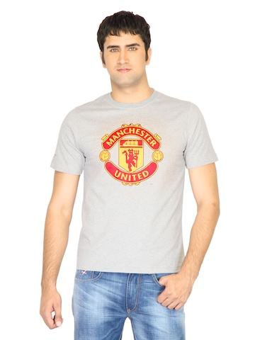 Manchester United Men Printed Grey Tshirt