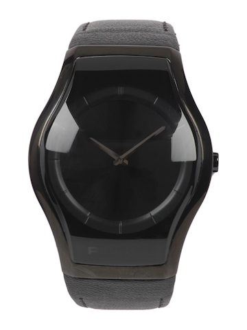 Police Men Black Dial Genuine Leather Watch
