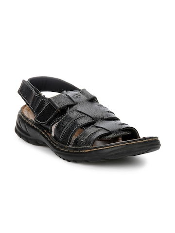 Ganuchi Men Black Sandals