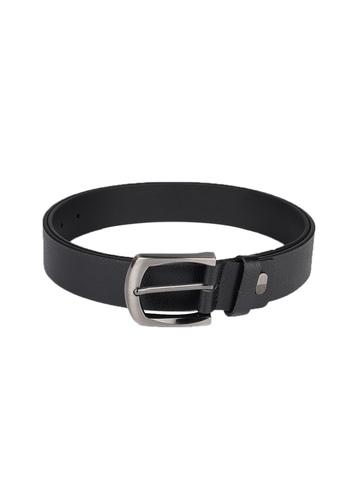 OTLS Men Black Leather Belt