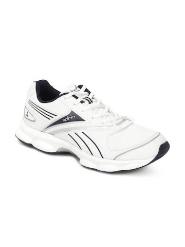 Spinn Men Texan White Sports Shoes