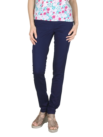 Pieces Women Blue Jeggings