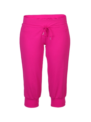 Nike Women Jersey Cuffed Pink Capris