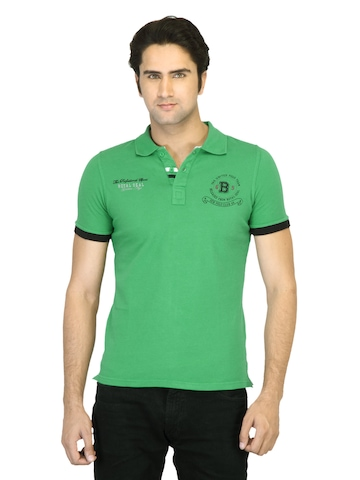 United Colors of Benetton Men Printed Green T-shirt