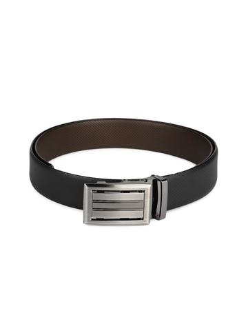 OTLS Men Black & Brown Reversible Leather Belt