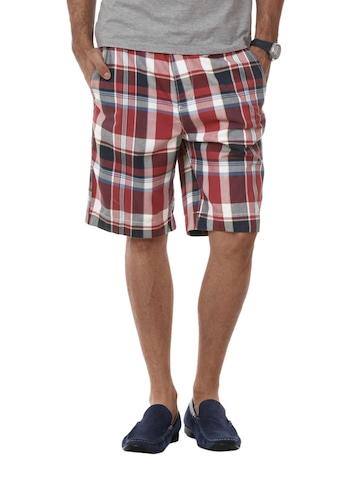 Myntra Men Red Check Shorts