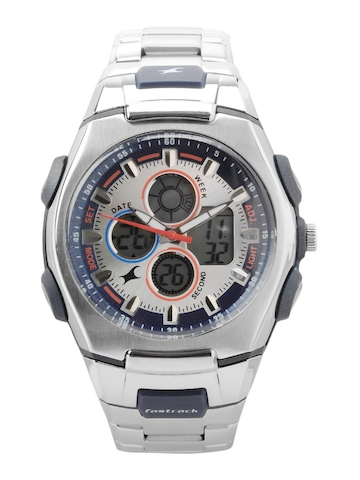 Fastrack Men Silver Dial Analog Chronograph Watch