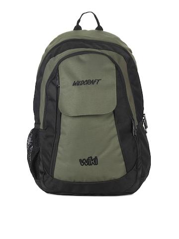 Wildcraft Unisex Olive Green & Black Backpack