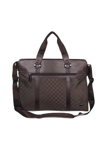 Peter England Unisex Brown Laptop Bag