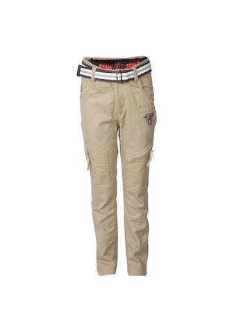 Gini Jony Boys Khaki Trousers