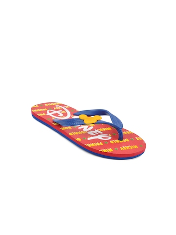 Disney Unisex Kids Basic Red Flip Flops
