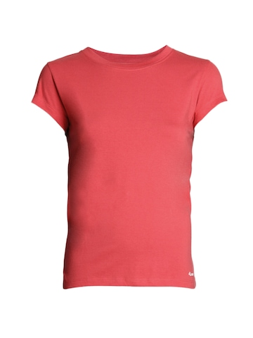 Jockey Women Pink T-Shirt
