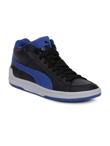Puma Men Mid Evo Leather Black Casual Shoes