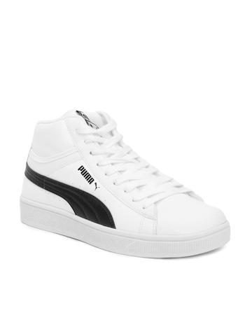 Puma Men Mid Biz Ind White Shoes