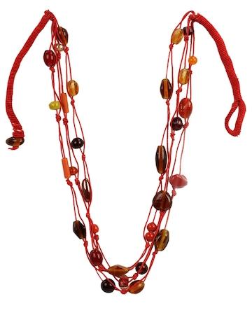 Adrika Women Orange Necklace