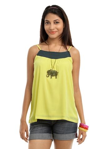 Vero Moda Women Yellow Top