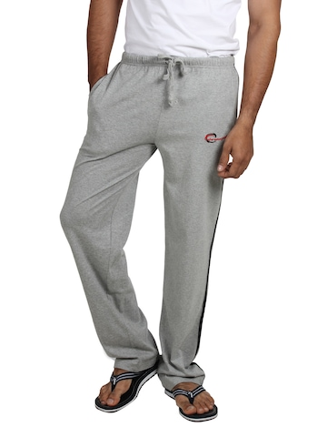 Chromozome Men Grey Melange Lounge Pants