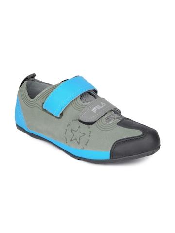 Fila Men Grey & Blue Jaquared Shoes