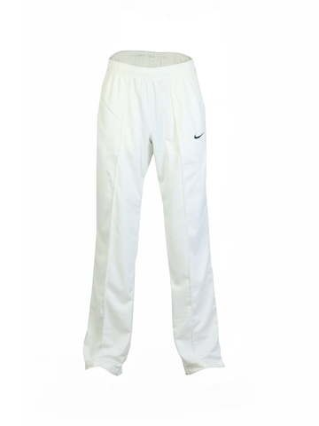 Nike Men Cricket Off White Track Pants