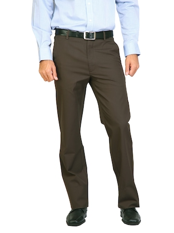 Arrow Sport Men Solid  Brown Trousers