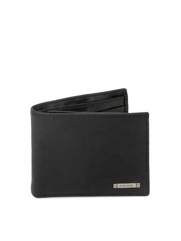 Fossil Men Black Evans Wallet