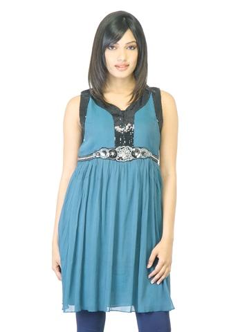La-Emotio Women Blue Kurta