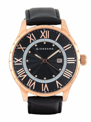 Giordano Men Black Watch