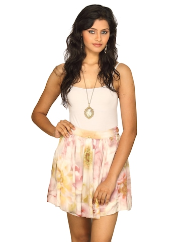 Forever New Women's Printed White Skirt