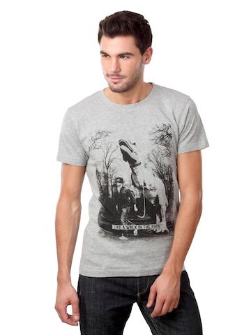 Jack & Jones Men Dino Grey T-shirt