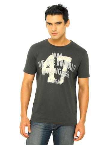 Wrangler Men Grey Glow In Dark T-shirt