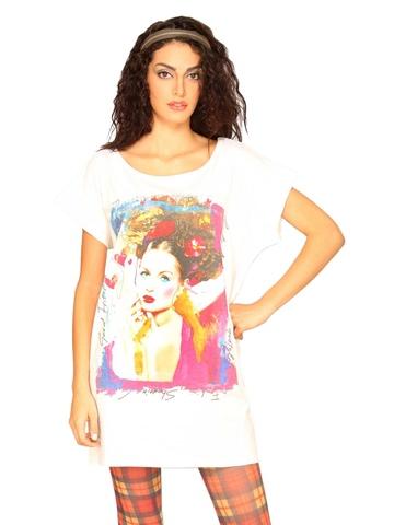 UCB Women's Photo Prints White T-shirt