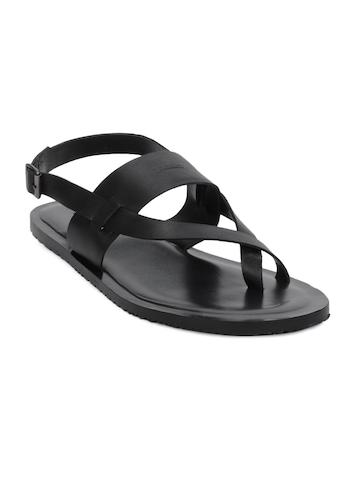 Arrow Men Black Sandals