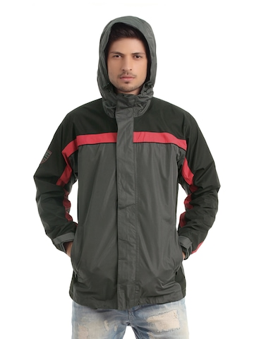 Just Natural Unisex Charcoal Rain Jacket